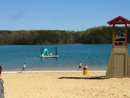 Beach at SML State Park