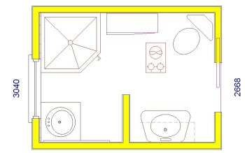 Work for Bathroom design 9x7